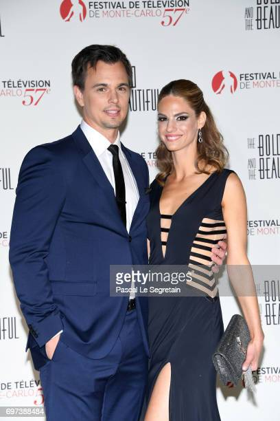 Darin Brooks and Kelly Kruger attend the 'The Bold and The Beautiful' 30th Years anniversary during the 57th Monte Carlo TV Festival Day 3 on June 18...