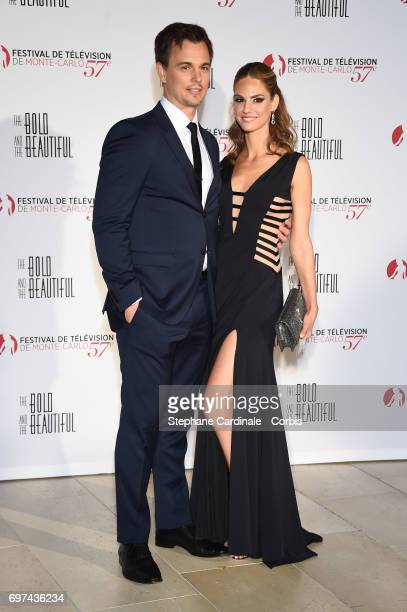 Darin Brooks and Kelly Kruger attend the 'The Bold and The Beautiful' 30th Anniversary during the 57th Monte Carlo TV Festival Day 3 on June 18 2017...
