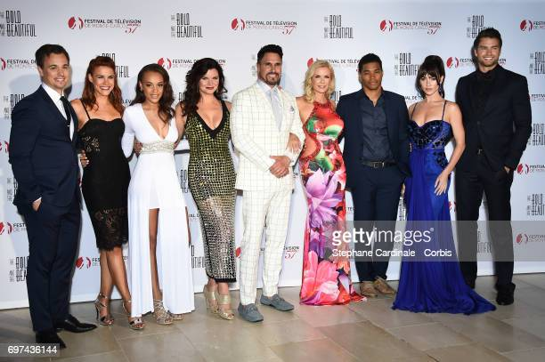 Darin Brooks Courtney Hope Reign Edwards Heather Tom Don Diamont Katherine Kelly Lang Rome Flynn Jacqueline MacInnes Wood and Pierson Fode attend the...