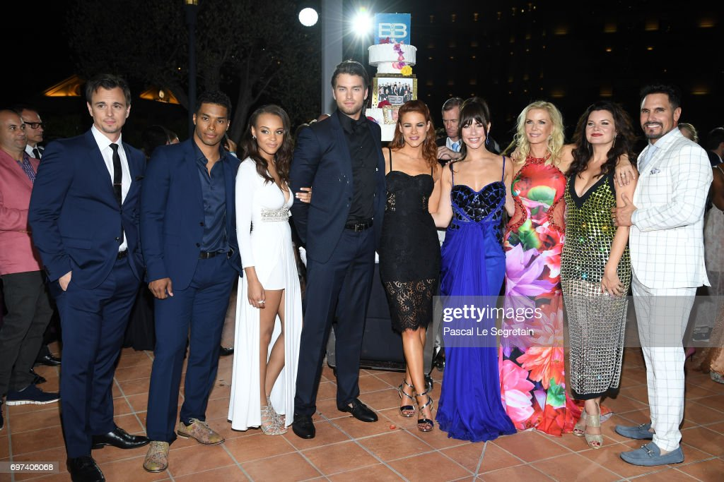 Darin Brooks,Rome Flynn,Reign Edwards,Courtney Hope,Jacquelines MacInnes Wood,Katherine Kelly Lang,Heather Tom and Don Diamont attend the 'The Bold and The Beautiful' 30th Years anniversary during the 57th Monte Carlo TV Festival : Day 3 on June 18, 2017 in Monte-Carlo, Monaco.