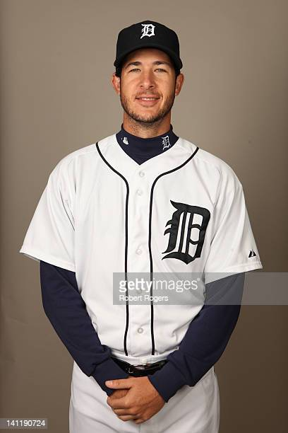 Darin Downs of the Detroit Tigers poses during Photo Day on Tuesday February 28 2012 at Joker Marchant Stadium in Lakeland Florida