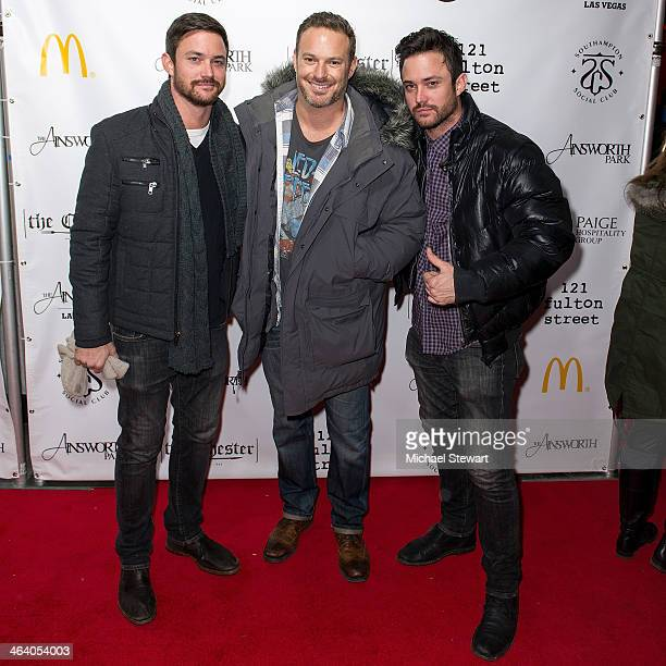 Darin Eppich Kevin Bulla and Derrick Eppich attend Paige Hospitality Group's Third Annual Sundance Football Game Watch on January 19 2014 in Park...