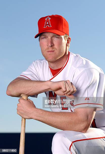 Darin Erstad of the Anaheim Angels poses for a picture during spring training in Tempe AZ