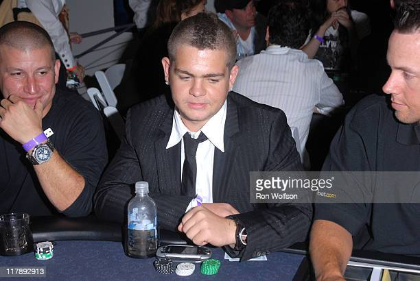 Darin Feinstein and Jack Osbourne during Ultimatebetcom Kari Feinstein and Mike McGuiness Host Celebrity Poker Tournament to Honor Clifton Collins...