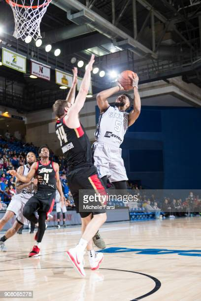 Darin Johnson of the Delaware 87ers shoots against the Erie BayHawks during an NBA GLeague game on January 20 2018 at the Bob Carpenter Center...