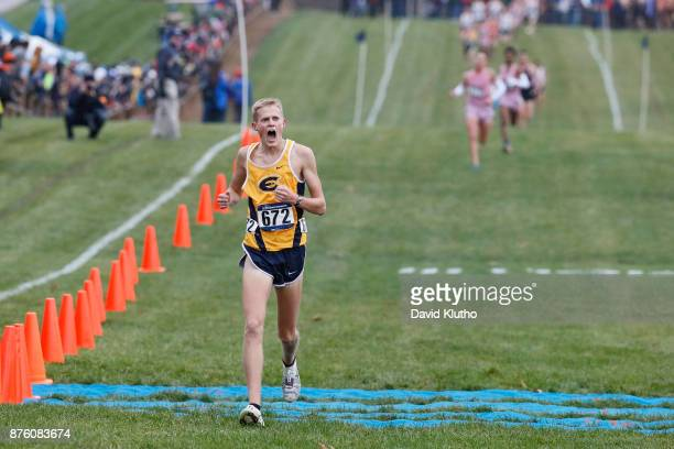 Darin Lau from the University of Wisconsin EauClaire win the national championship during the Division III Men's and Women's NCAA Photos via Getty...