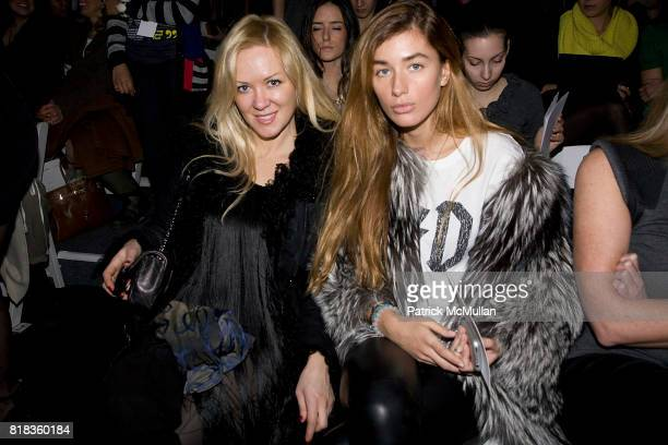 Darina Alexandrova and Eugenia Pavlin attend NICOLE MILLER Fall 2010 Collection at Bryant Park Tents on February 12 2010 in New York City