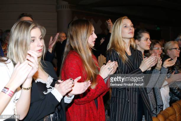 Darina ScottiVartan Emma Smet and her sister Ilona Smet attend Sylvie Vartan performs at Le Grand Rex on March 16 2018 in Paris France