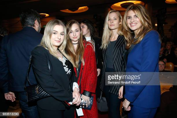 Darina ScottiVartan Ilona Smet Emma Smet and Alexandra Pastor attend Sylvie Vartan performs at Le Grand Rex on March 16 2018 in Paris France
