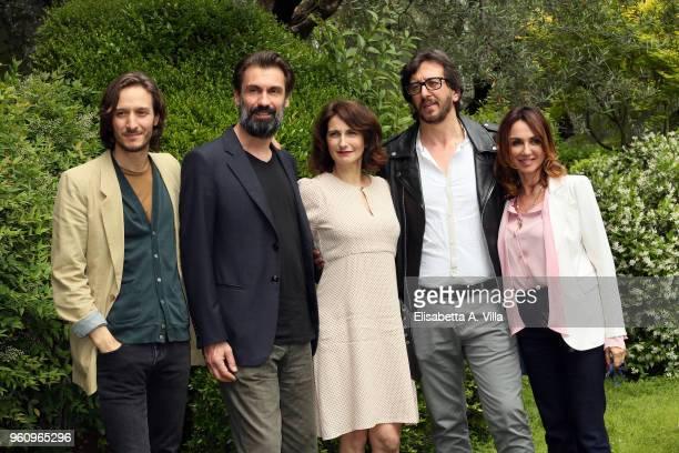 Dario Aita Fabrizio Gifuni Lorenza Indovina director Daniele Vicari and producer Paola Lucisano attend a photocall for 'Prima Che La Notte' Rai...