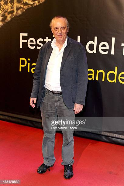 Dario Argento attends a photocall during the 67th Locarno Film Festival on August 9 2014 in Locarno Switzerland