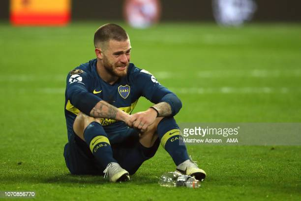 Dario Benedetto of Boca Juniors looks dejected at the end of the second leg of the final match of Copa CONMEBOL Libertadores 2018 between Boca...