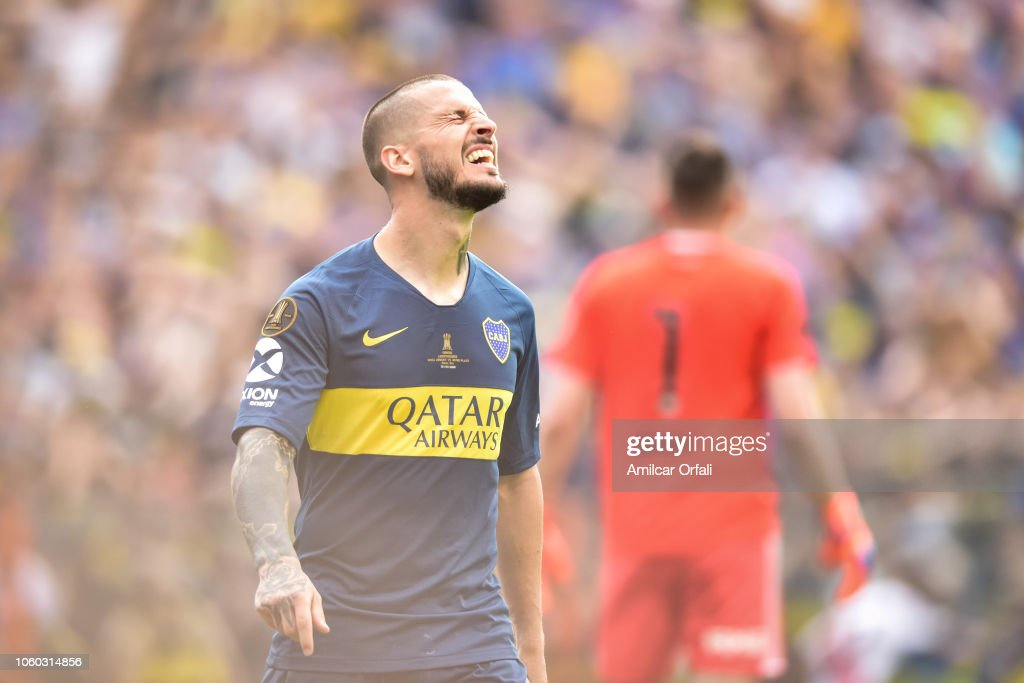 low priced f3e8b 85058 Dario Benedetto of Boca Juniors reacts after missing a ...