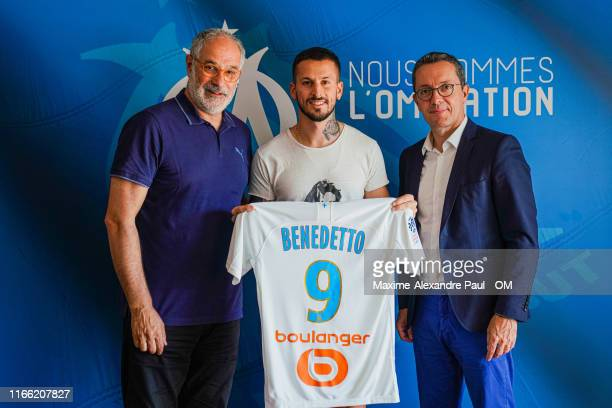 Dario Benedetto signs for Olympique de Marseille at Centre Robert LouisDreyfus on August 05 2019 in Marseille France
