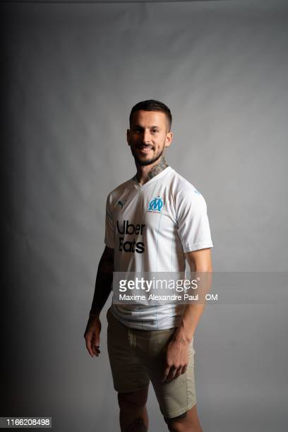 Dario Benedetto signs for Olympique de Marseille at Centre Robert Louis-Dreyfus on August 05, 2019 in Marseille, France.