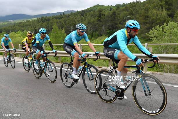 Dario Cataldo of Italy and Astana Pro Team / Davide Villella of Italy and Astana Pro Team / Andrey Zeits of Kazahkstan and Astana Pro Team / Koen...