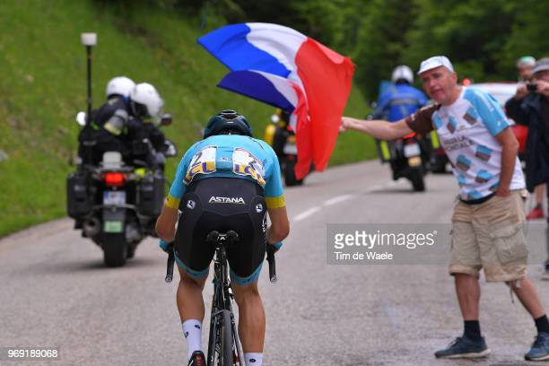 Dario Cataldo of Italy and Astana Pro Team / Fan Public / French Flag / during the 70th Criterium du Dauphine 2018 Stage 4 a 181km stage from...