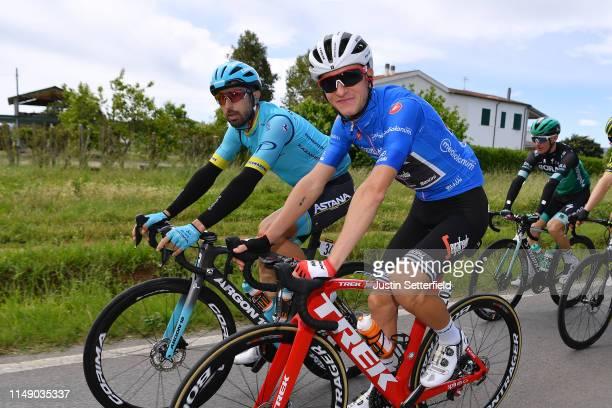 Dario Cataldo of Italy and Astana Pro Team / Giulio Ciccone of Italy and Team Trek - Segafredo Blue Mountain Jersey / Peloton / during the 102nd Giro...