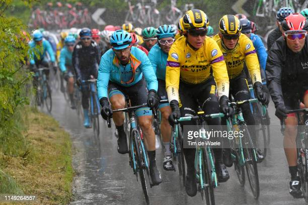 Dario Cataldo of Italy and Astana Pro Team / Manuele Boaro of Italy and Astana Pro Team / Sepp Kuss of The United States and Team Jumbo - Visma /...