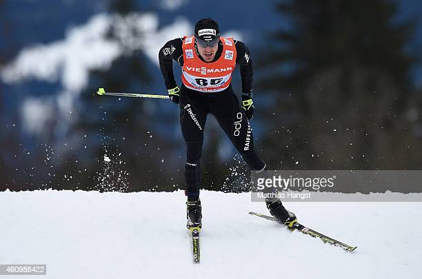Dario Cologna of Switzerland competes during the Men's Prologue 4.4 km Individual Free event for the FIS Cross Country World Cup Tour de Ski on...