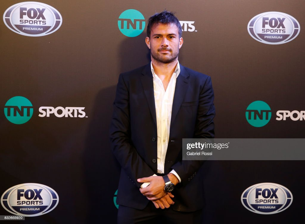 Dario Cvitanich of Banfield poses for the press during AFA's Superliga Official Launch at Hilton Hotel on August 15, 2017 in Buenos Aires, Argentina.