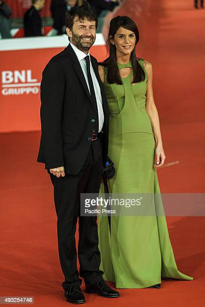 Dario Franceschini Italian Minister of Cultural Heritage and Activities and Tourism and Michela di Biase walk the red carpet for the premiere of...