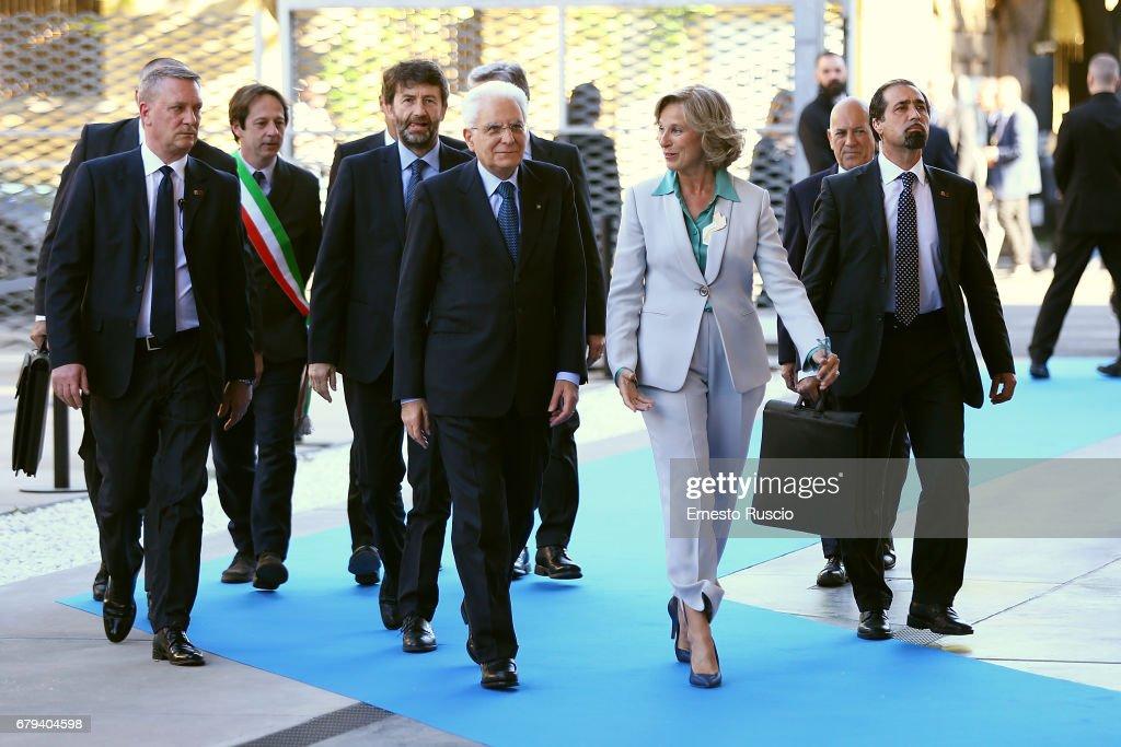 President Mattarella Visits Maxxi Museum In Rome