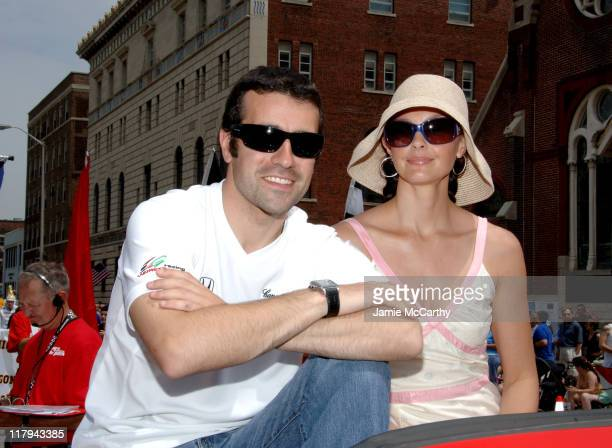 Dario Franchitti and Ashley Judd during 90th Running of The Indianapolis 500 The Indy 500 All Star Festival Parade in Indianapolis Indiana United...