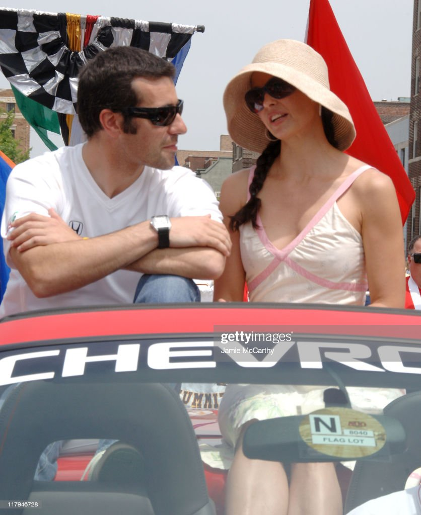 Dario Franchitti and Ashley Judd during 90th Running of The Indianapolis 500 - The Indy 500 All Star Festival Parade in Indianapolis, Indiana, United States.