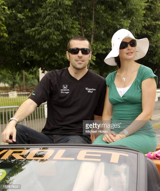 Dario Franchitti and Ashley Judd during Indianapolis 500 Festival Parade May 26 2007 at Downtown in Indianapolis Indiana United States