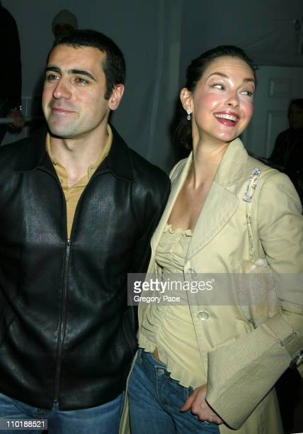 Dario Franchitti and Ashley Judd during Olympus Fashion Week Fall 2004TulehFront Row at Bryant Park in New York City New York United States