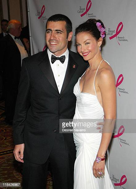 Dario Franchitti and Ashley Judd during The Breast Cancer Research Foundation Presents 'The Very Hot Pink Party' April 10 2006 at Waldorf Astoria in...