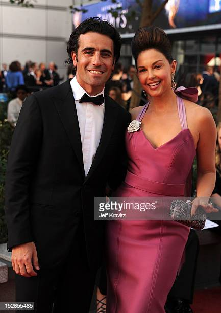 Dario Franchitti and wife actress Ashley Judd arrive at the 64th Primetime Emmy Awards at Nokia Theatre LA Live on September 23 2012 in Los Angeles...