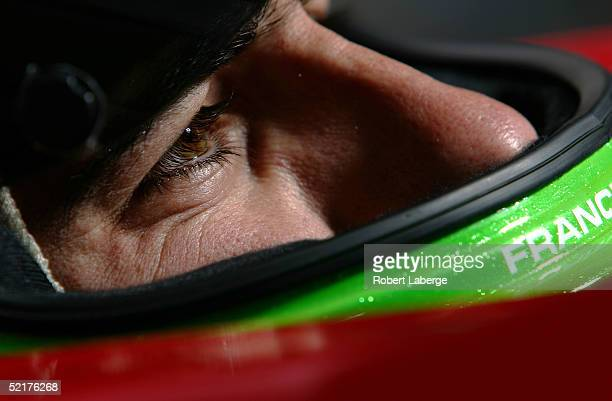 Dario Franchitti driver of the ArcaEx Andretti Green Racing Honda Dallara sits in his car during the IRL IndyCar Series Open Test on February 10 2005...