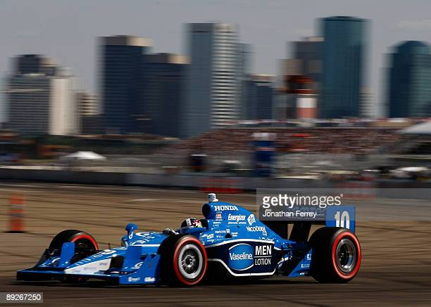 Dario Franchitti drives his Vaseline Men Lotion Target Chip Ganassi Racing Dallara Honda during the IRL IndyCar Series Rexall Edmonton Indy on July...