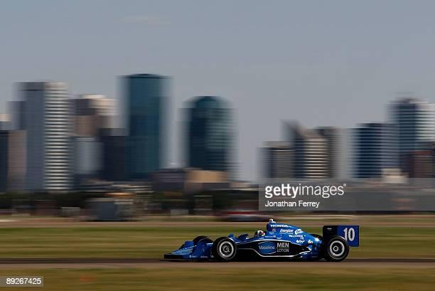 Dario Franchitti drives his Vaseline Men Lotion Target Chip Ganassi Racing Dallara Honda during the IRL IndyCar Series Rexall Edmonton Indy on July...