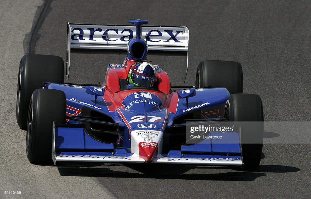 Dario Franchitti drives the #27 Andretti Green Racing ArcaEx Honda Dallara during practice for the Indy Racing League IndyCar Series Menards A.J. Foyt Indy 225 on July 23, 2004 at the Milwaukee Mile in Milwaukee, Wisconsin.