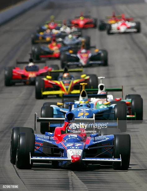 Dario Franchitti drives the Andretti Green Racing Dallara Honda during the IRL Indy Racing League Indy Car Series 89th running of the Indy 500 on May...