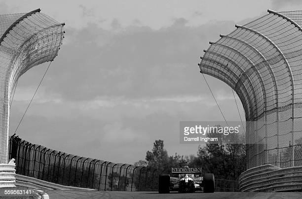 Dario Franchitti driving the Andretti Green ArcaEx Dallara Honda during practice for the Indy Racing League IndyCar Series Inaugural Watkins Glen...