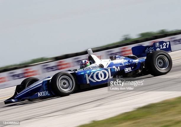 Dario Franchitti during CART Marconi Grand Prix of Cleveland Qualifying at Burke Lakefront Airport in Cleveland Ohio United States