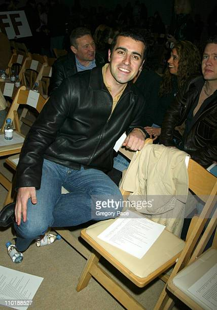 Dario Franchitti during Olympus Fashion Week Fall 2004TulehFront Row at Bryant Park in New York City New York United States