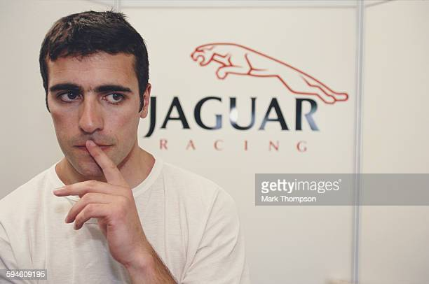 Dario Franchitti of Great Britain and test driver of the Jaguar Racing JaguarCosworth R1 Cosworth CR2 during in season testing on 19 July 2000 at the...