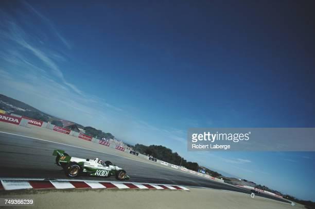 Dario Franchitti of Great Britain drives the Team KOOL Green Reynard 01i Honda HRK during practice for the Championship Auto Racing Teams 2001 FedEx...