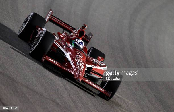 Dario Franchitti of Scotland drives the Target Chip Ganassi Racing Dallara Honda during the Cafes do Brasil Indy 300 at HomesteadMiami Speedway on...