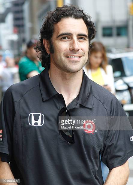 Dario Franchitti visits Late Show With David Letterman at the Ed Sullivan Theater on June 8 2010 in New York City