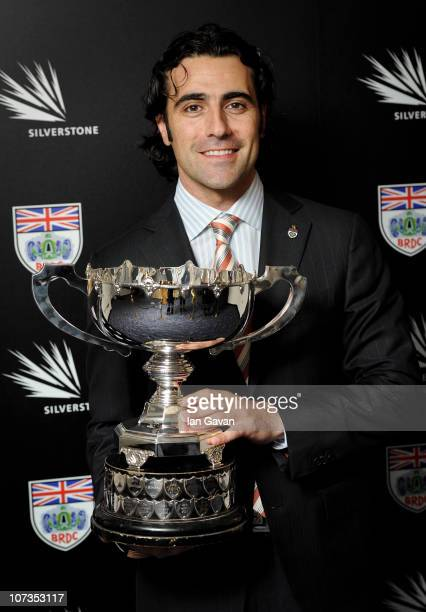 Dario Franchitti winner of the Earl Howe Trophy at the British Racing Drivers' Club Awards at The Savoy on December 6 2010 in London England