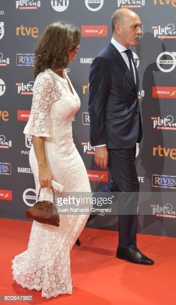 Dario Grandinetti and Pastora Vega attend the 'Platino Awards 2017' photocall at La Caja Magica on July 22 2017 in Madrid Spain