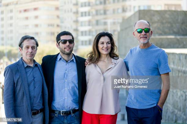 Dario Grandinetti Andrea Frigerio Benjamin Naishtat and Alfredo Castro attend 'Rojo' photocall during 66th San Sebastian Film Festival at Kursaal on...