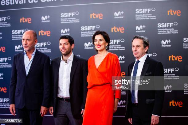Dario Grandinetti Benjamin Naishtat Andrea Frigerio Alfredo Castro during the 'Rojo' Red Carpet at the 66th San Sebastian International Film Festival...