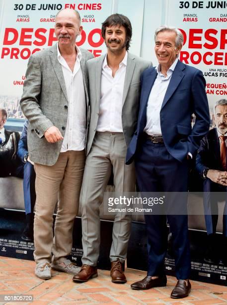 Dario Grandinetti Hugo Silva Lucas Figueroa and Imanol Arias Attend 'Despido Procedente' Madrid Photocall on June 27 2017 in Madrid Spain